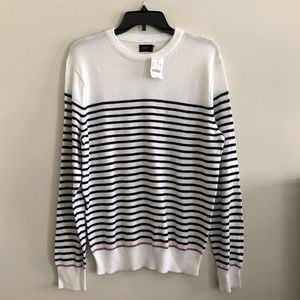 Men's J.Crew Striped Pullover Crewneck Sweater